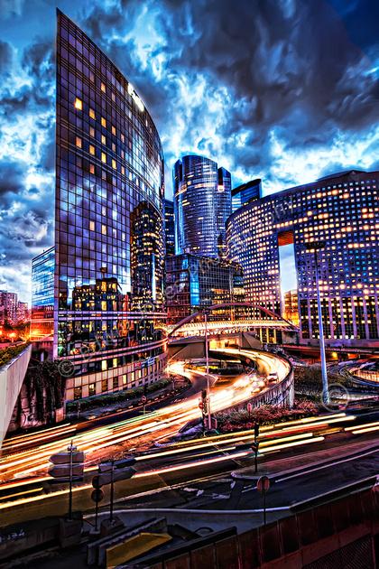 City Skyline La Defense Paris final