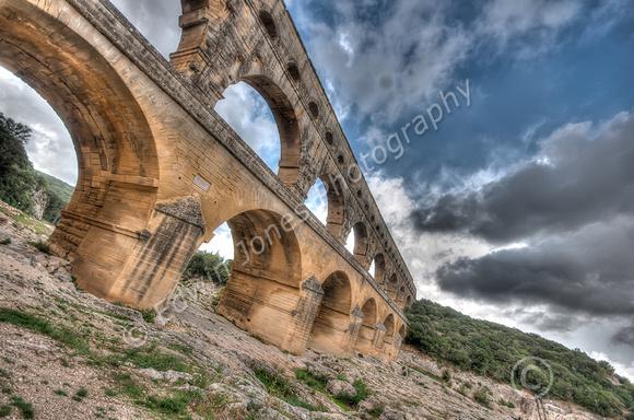 Pont du Gard Roman Survival tonemapped