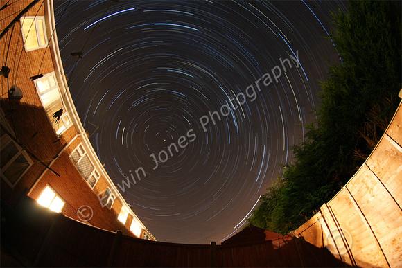 Fisheyed Urban Star Trails Stacked