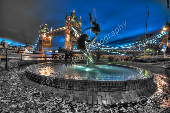 London Dolphin Tower Bridge Tonemapped