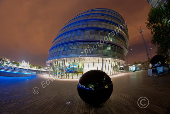 London City Hall Monolith tonemapped