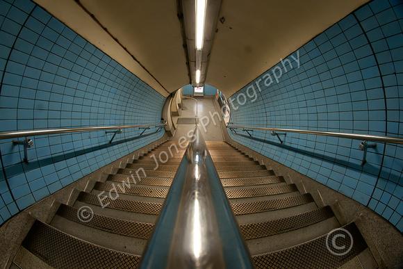 Blue Stairwell London Underground Original