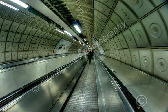 Waterloo Underground Travelator Tonemapped