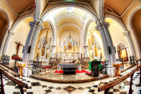 Altar View Teguise Church Lanzarote Final