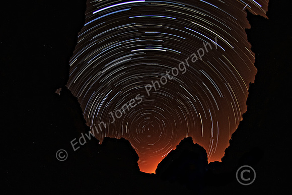 Crater Gap Star Trails  all star exposures