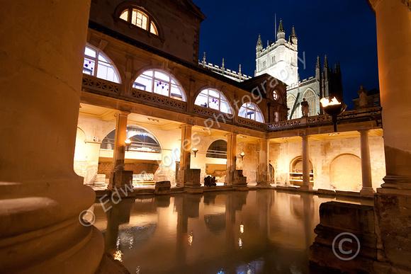 Roman Baths Night View Original