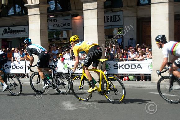 Bradley Wiggins Paris Tour Win Original