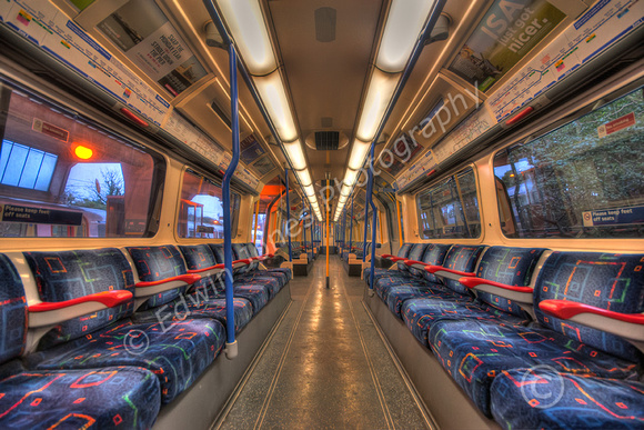 Piccadilly Line Empty Carriage tonemapped