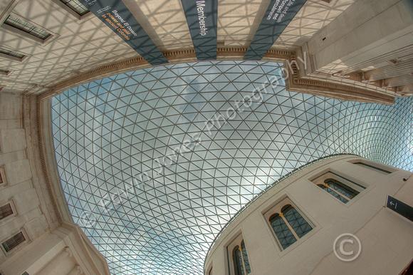 British Museum Roof Fisheyed Tonemapped