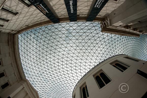British Museum Roof Fisheyed Original