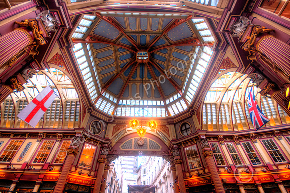 Leadenhall Market Roof City of London Tonemapped