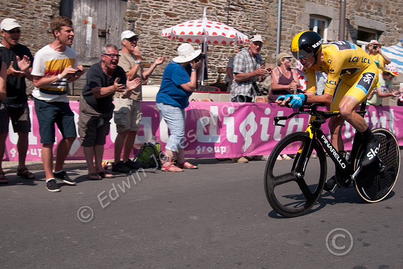 Chris Froome Tour Winner Time Trial Original