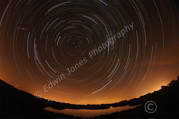 Perseids Meteors Star Trails Original
