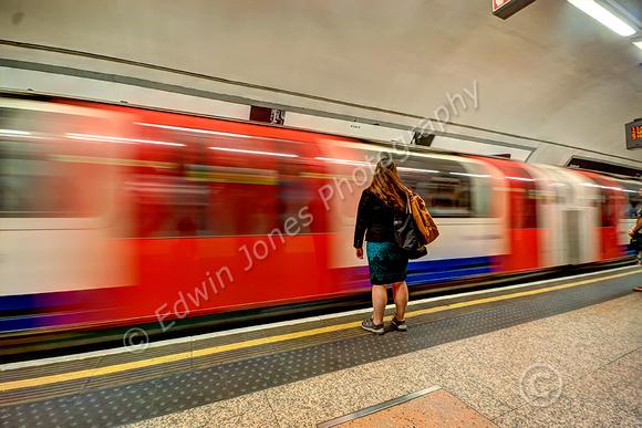 Waiting Passenger London Underground Tonemapped