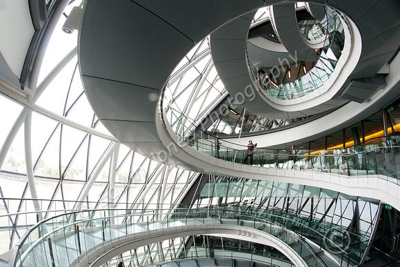City Hall Descending Spirals Original