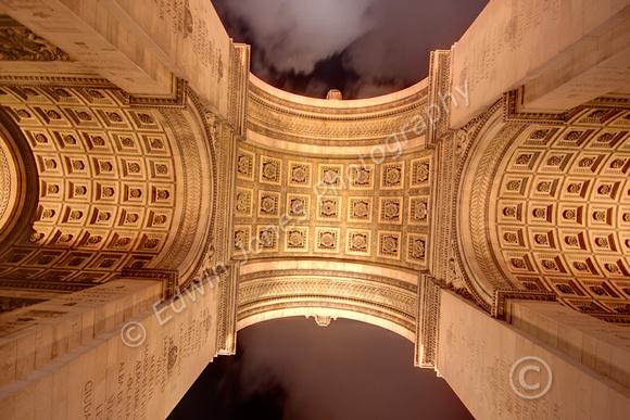 Arc de Triomphe Arch Symmetry Fused