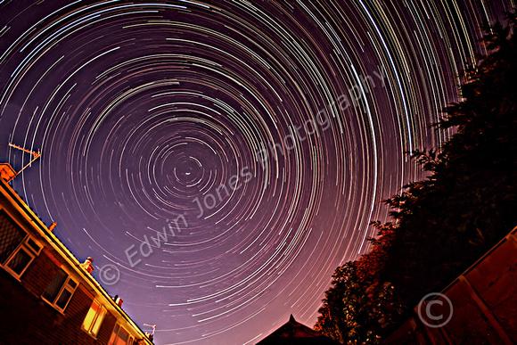 Star Trails a Short Summers Night Final