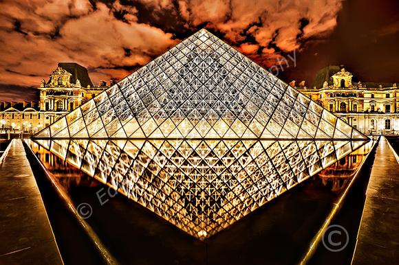 Louvre Night Diamond Paris Final