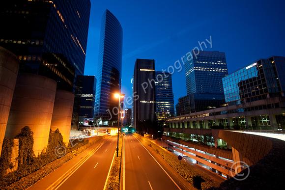 La Defense Blue Hour Cityscape Original