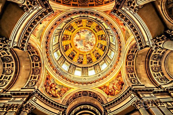 Looking Up Les Invalides Dome Paris final