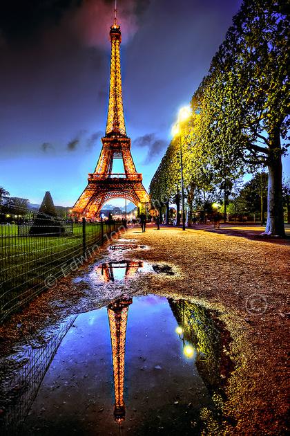 Eiffel Tower Reflection Paris