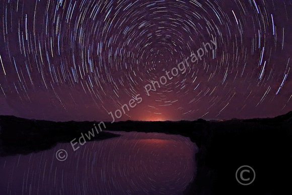 Tidal Pool Star Trails El Golfo Lanzarote