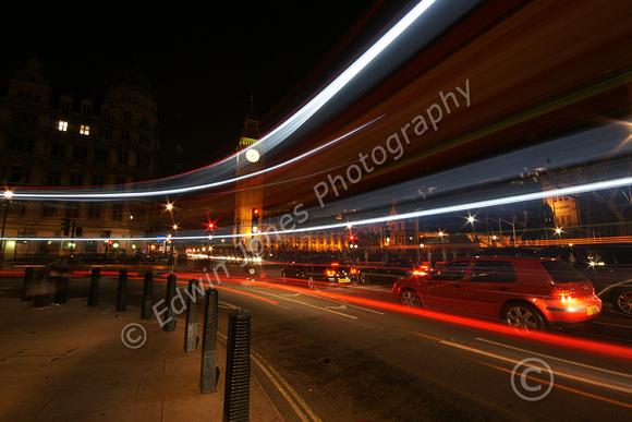 Westminster Light Show London Bus original
