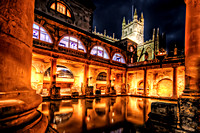 Roman Baths Night View