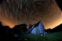 Star Trails St Agatha Church Coates