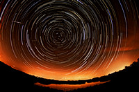 Perseids Meteors Star Trails