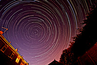 Star Trails a Short Summers Night
