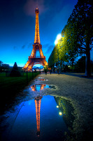 Eiffel Tower Reflection Paris tonemapped