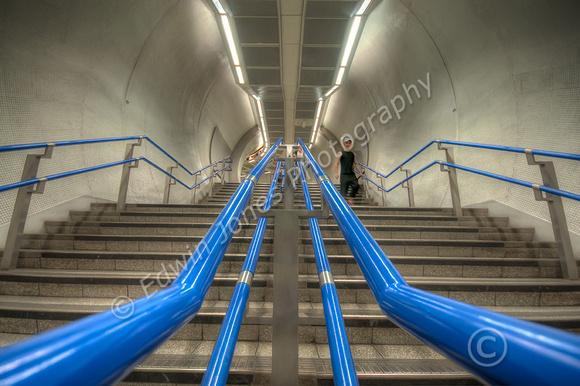 Blue Guide Rails Descent to the Underworld Tonemapped