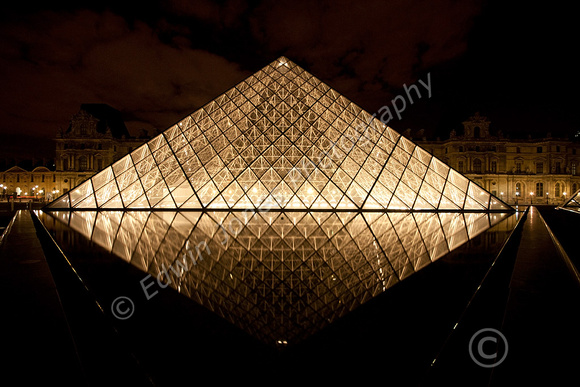 Louvre Night Diamond Paris Original