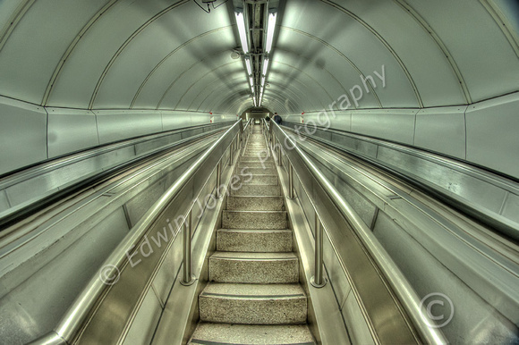 Ascent From London Underground Tonemapped