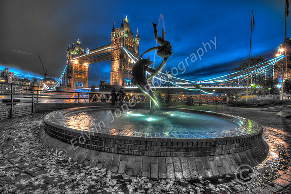 London Dolphin Tower Bridge Tonemapped