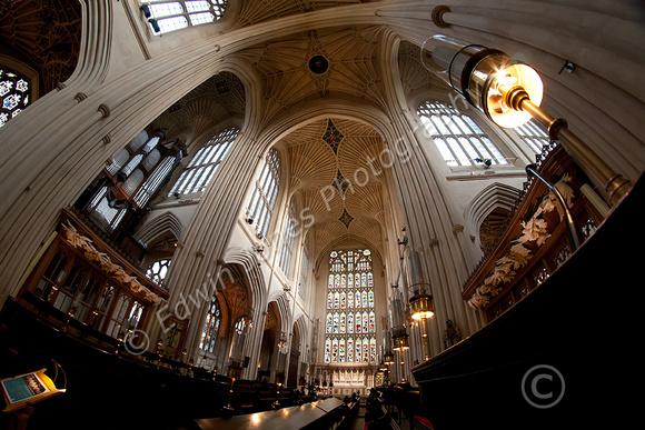 Choir Stalls Bath Abbey Fisheyed Original