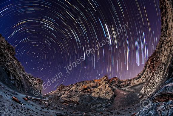 Crater Floor Star Trails