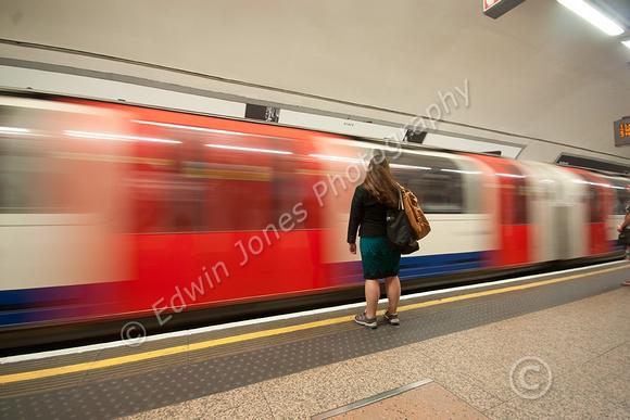 Waiting Passenger London Underground Original