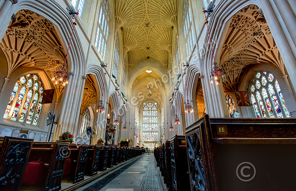 Bath Abbey Centre Aisle