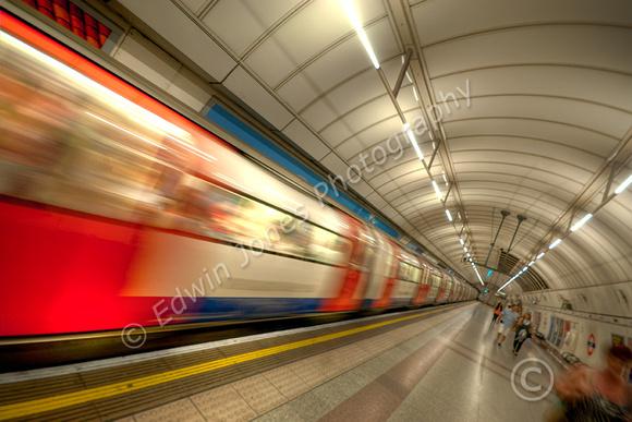 London Underground Bullet Train Tonemapped