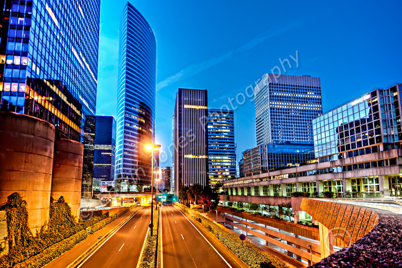 La Defense Blue Hour Cityscape