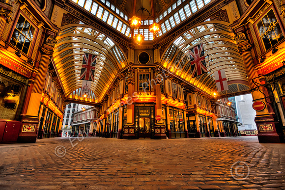 Leadenhall Market Empty View Tonemapped