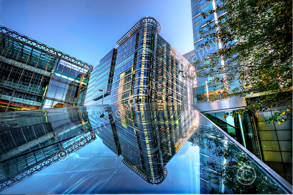 Canary Wharf Angles and Reflections