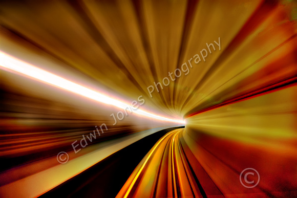 Docklands Railway Tunnel at Speed