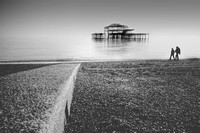 A Misty Walk on Brighton Beach